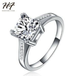 SILVER AAA+ CZ ENGAGEMENT RING 2 CARAT SZ 7